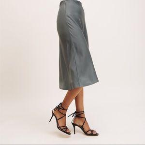 NWT Dynamite Satin Midi Skirt